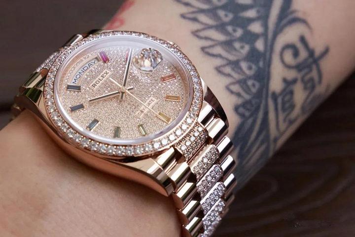 Rolex Full Diamond Clone Watch