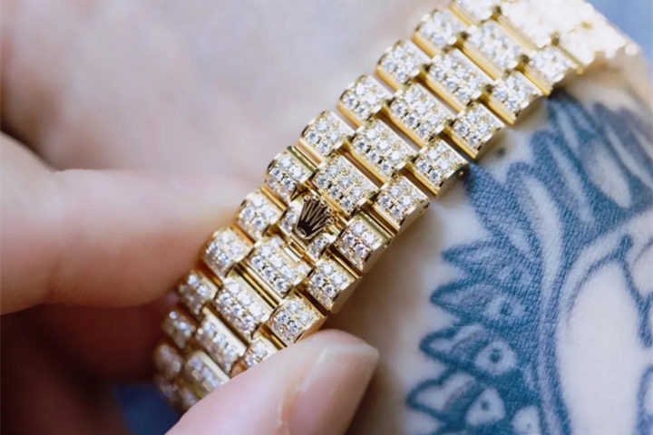 Rolex Full Diamond Clone Strap